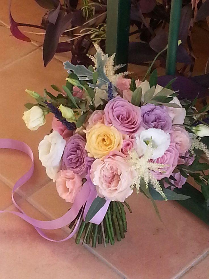 Ramo novia rosas David austin,  lisanthium y rosas de diferentes tonalidades, para una boda sorpresa muy especial en el.dia de hoy