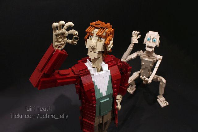 Recreating a scene from the upcoming Hobbit movie... in Legos! Double the geekiness, double the fun!