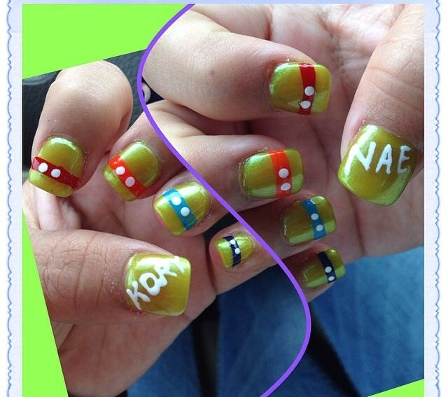 Ninja Turtle Nails For Baby Shower!