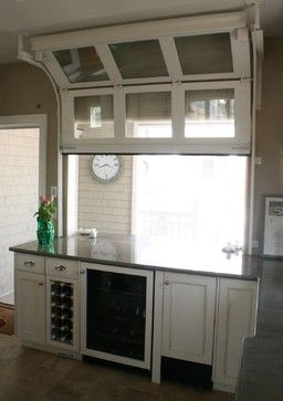 Pass thru window---Architectural Details - traditional - kitchen - new york - Rice and Brown Architects