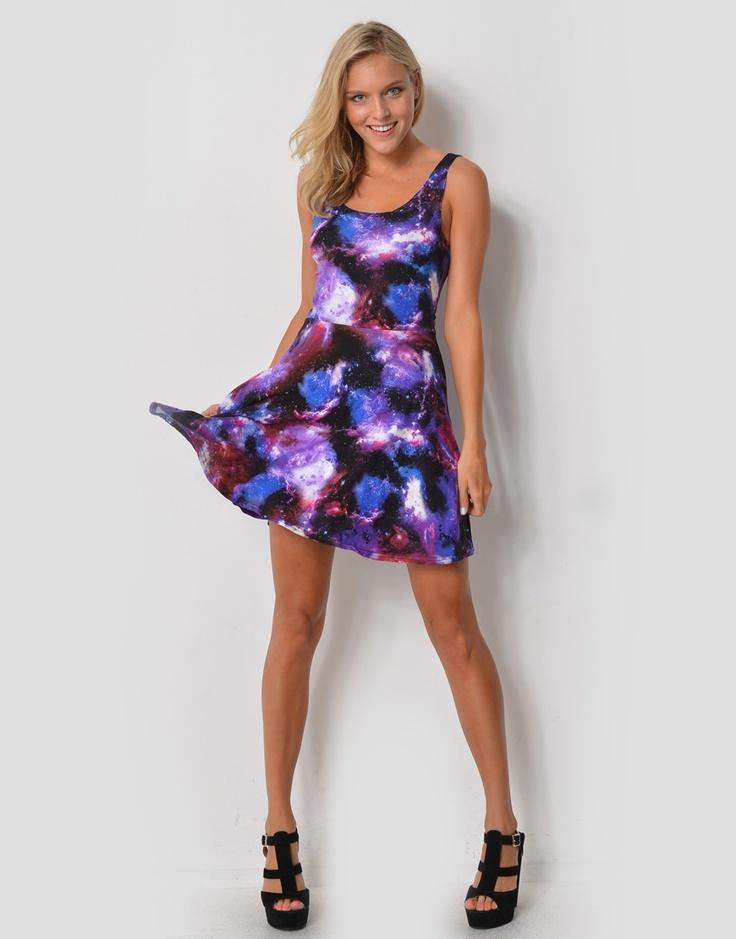 6373509PR - MOONLIGHT* Printed Singlet Mini Dress