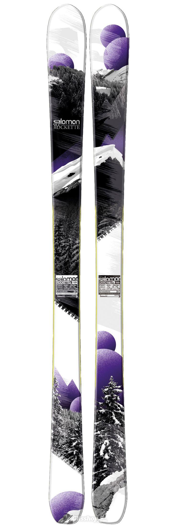 Le Salomon Rockette 90. concept Pulse Pad. de quoi taper des ollies et sauter des barres...