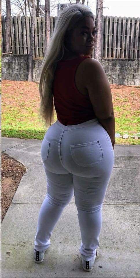 White Hair Ebony Damn Her Big Ass