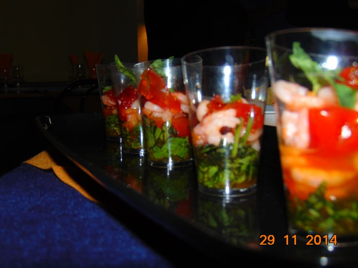 Cocktail di gamberi con pomodorini canditi @verdoro! #goldgreen #verdoro #qualitasuperiore #food