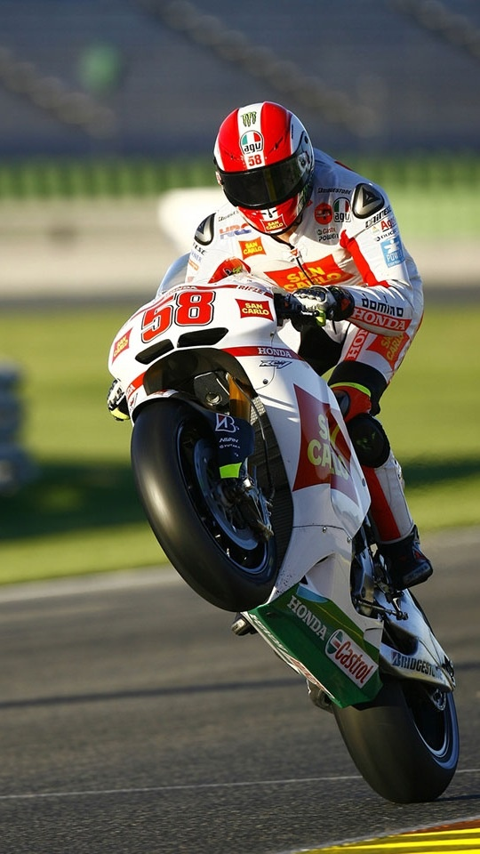 Wheelie by the late Marco Simoncelli - gone but not forgotten