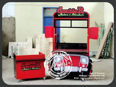 Desain dan Produksi Gerobak: Produksi Gerobak Doubler Juice Shake