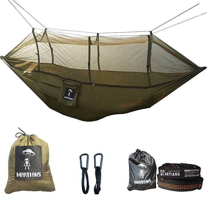 Martians Camping Hammock With Mosquito Net Ultralight Foldable Double Hammock With 28 Loop Tree S Backpacking Hammock Hammock With Mosquito Net Hammock Camping