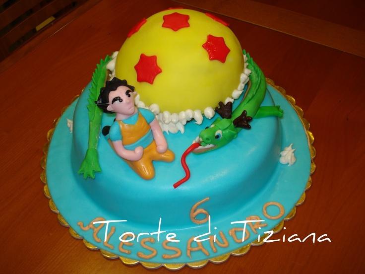 "TORTE DECORATE: dragon ball ""goku, drago, e sfera"""