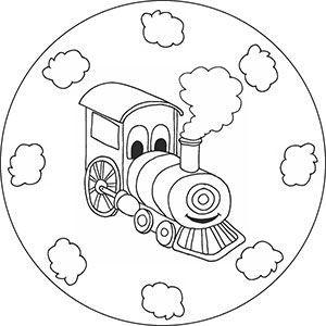 Eisenbahn Malvorlage Fur Kinder Zug Kinder Kindergarten Basteln Eisenbahn