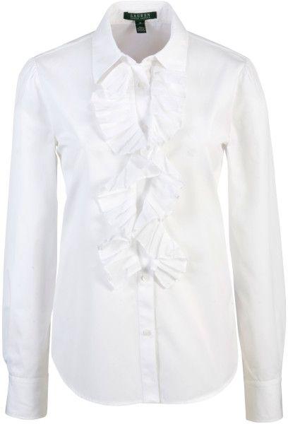 WHITE RALPH LAUREN BLOUSE   lauren-by-ralph-lauren-white-lauren-by-ralph-lauren-ruffle-blouse ...