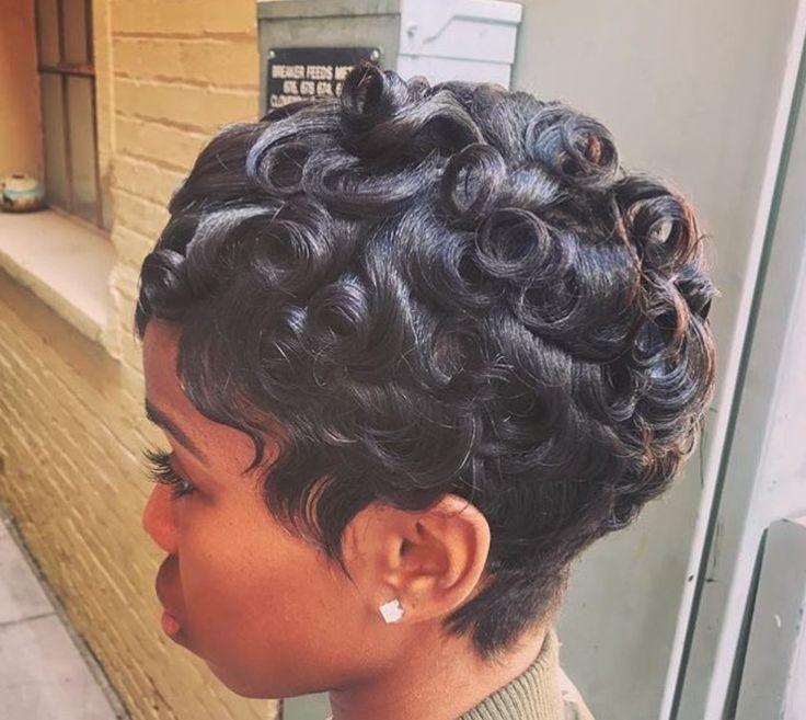 Best 25+ Pin curls short hair ideas on Pinterest | Short ...