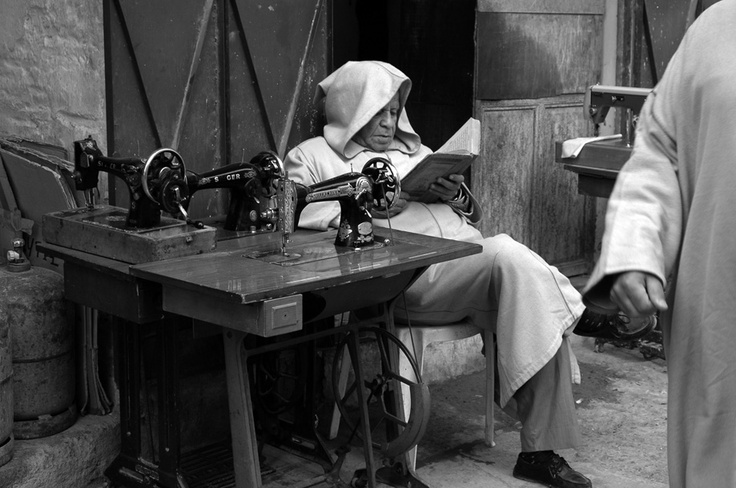 Sewing machines at Fez, Moroco by Maktub