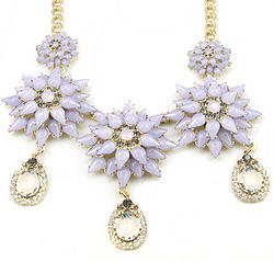 Crystal Choker Collar Statement Necklace