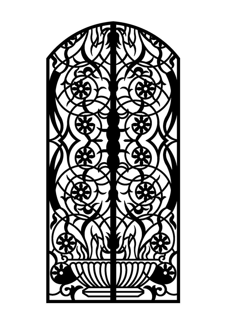 Laser cut door 6mm steel plasma cut gates doors and for Door design cnc