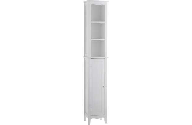 Inspire Vintage Tall Boy - White Homebase £79.99