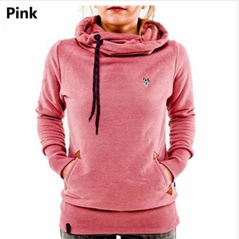 2016 Brand Women Hoodies Sweatshirt Long Sleeve Hooded Pocket Design Warm Hoodie Women Sudaderas Mujer