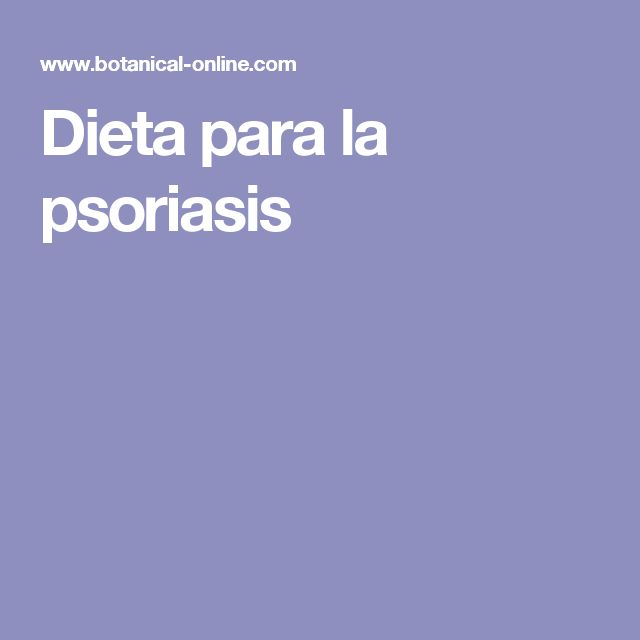 Dieta para la psoriasis
