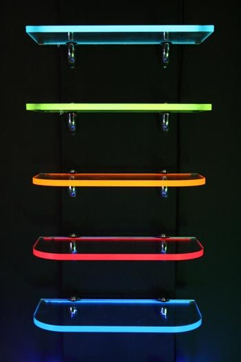 Lightshelf With Light Tape Embedded In The Back Edge Of Acrylic Shelfs Easy To Make Perhaps