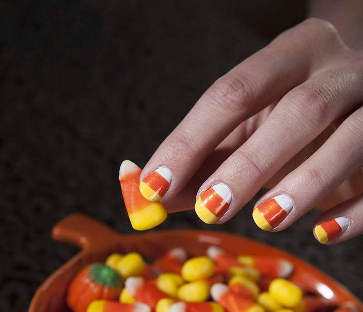 Thanksgiving Nail Art Tutorials: 60 Best Thanksgiving Nails Images On Pinterest