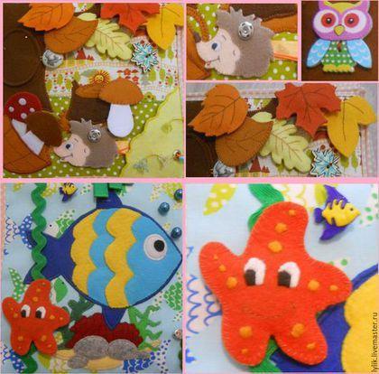 Купить Развивающая книжка - разноцветный, развивающая игрушка, развивающая книжка, развитие мелкой моторики
