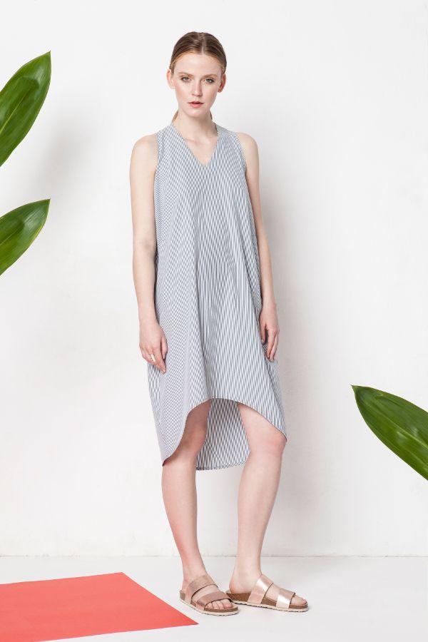 by Magda Hasiak: Swing of things #magdahasiak #swingofthings #springsummer2016 #summer2016 #fashion #newcollection #summerfashion #clothes #fashiondress #dress #strippeddress #stripes #elegantwoman #womensfashion #summerlook #fashionlook #streetstyle #style #elegancy #grey #dress