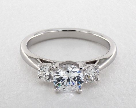 Engagement Rings Martin Flyer White Gold Three Stone Round Ring By Item 55115