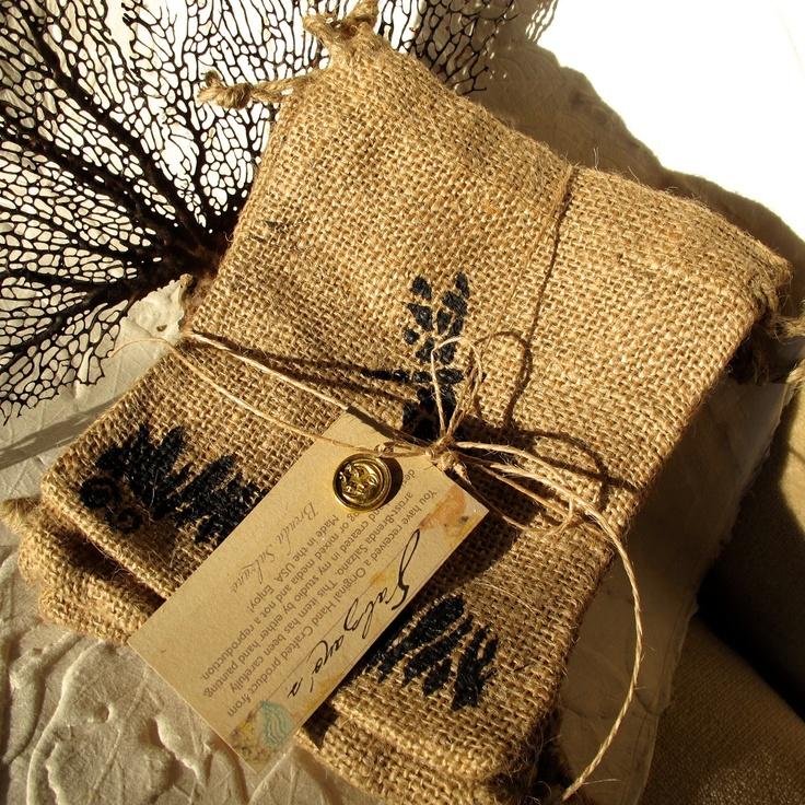 Dragon Fly Burlap Bags s