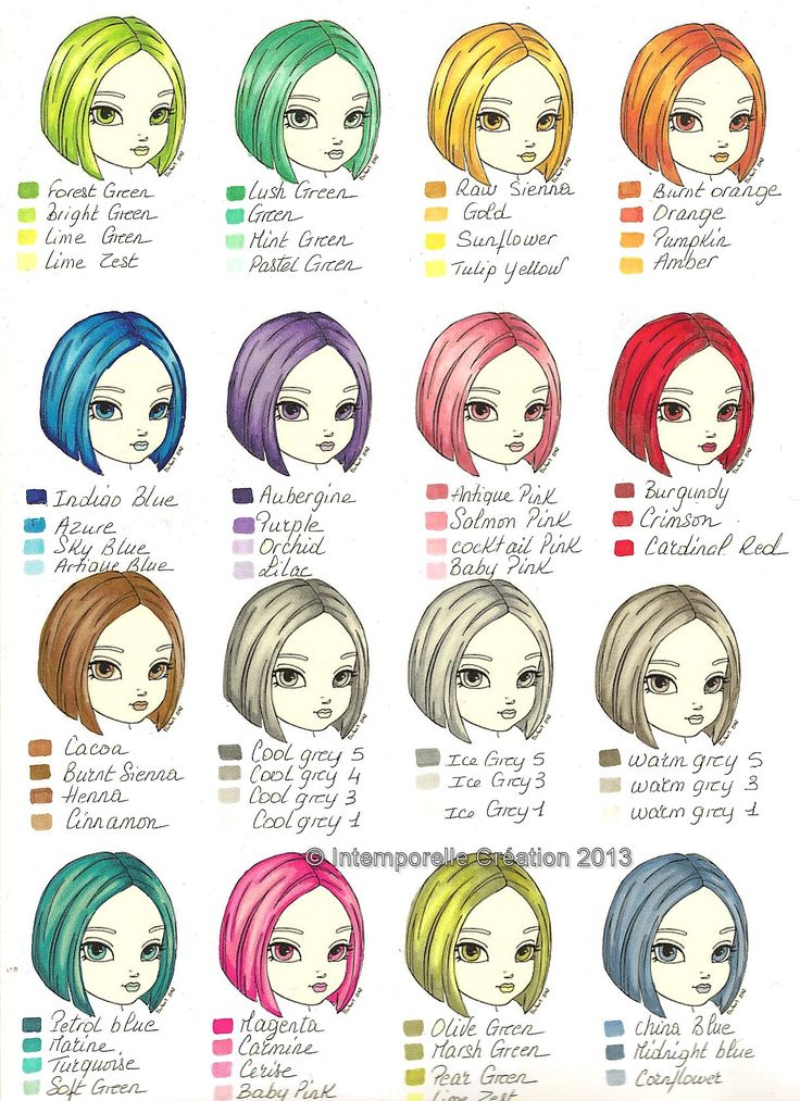 Even more ProMarker hair colours