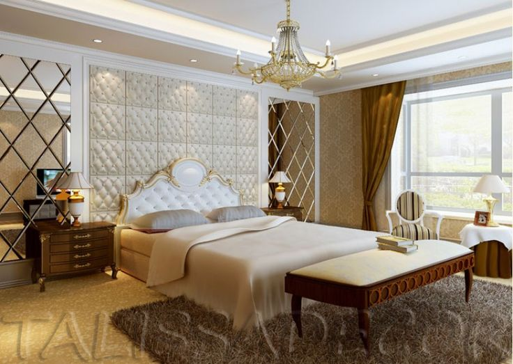 Mirrored Wall On Either Side Of The Bed Accent Wall