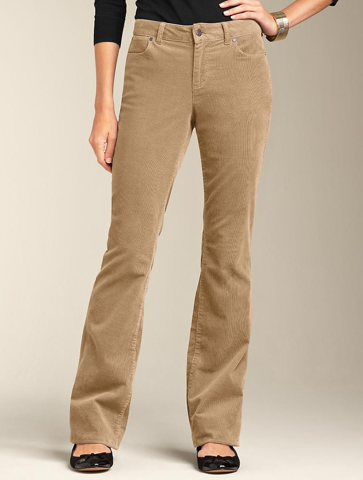Talbots - Curvy Fit Bootcut Five-Pocket Cords | Curvy Fit | Woman's Plus & Petite Plus ~~ I have a couple pair of these cords up for sale on my eBay site;  victor-and-mia