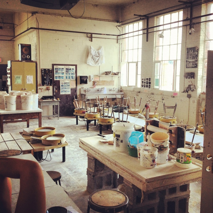 A Dozen Home Workspaces: So Cozy :) Pottery Studio At Radford University.