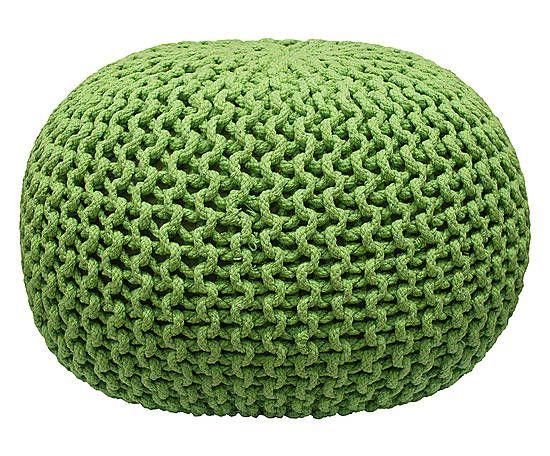 Pufe Crochet - VerdeElaborado delicadamente e preenchido com polietileno, ele oferece uma releitura moderna das técnicas tradicionais. Pode compor salas, quartos e outros ambientes de convívio.Largura: 40 cm x Altura: 20 cm x Profundidade: 30 cm