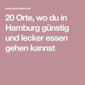 20 Orte, wo du in Hamburg günstig und lecker essen gehen kannst