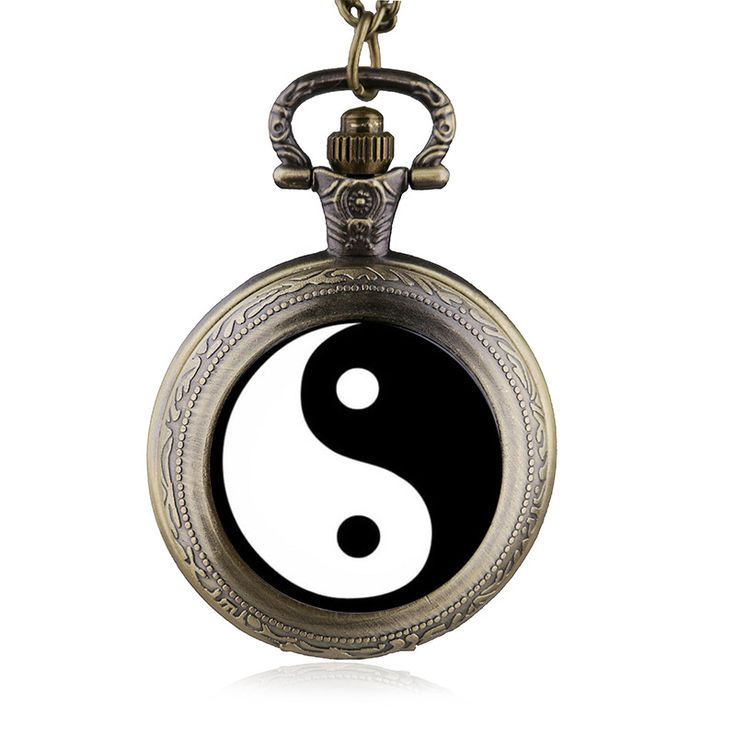 New Arrival Chinese Style Tai Chi Gossip Pocket Watch Pendant Necklace Men Women Watches Gift