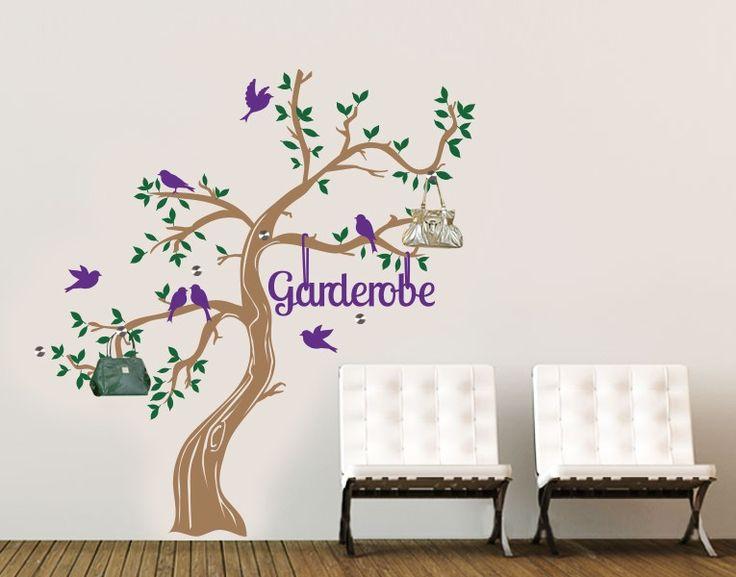 Haken Wandtattoo Garderobenbaum