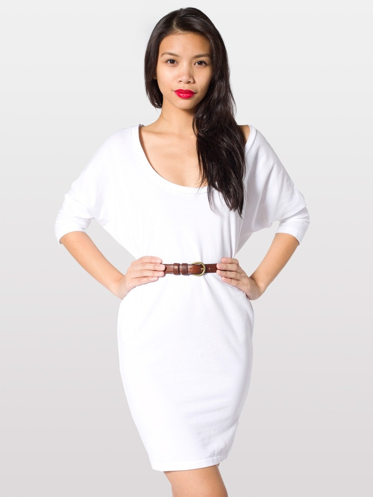 Piqué Dolman Sleeve Dress   Mini Long Sleeves   Women's Dresses   American Apparel