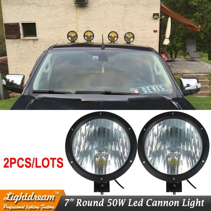 "6.7Inch 6.7"" 50W Led Cannon Light 12V 24V 4X4 Led Work Driving light Cannon headlights external lights for car truck suv 4X4 x2"