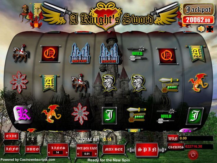 Buy Video Slot game for Online Casino - A knight Sword Video Slot Game