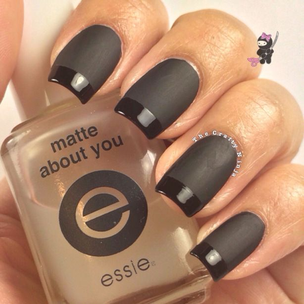 Best 25+ Matte black nail polish ideas on Pinterest | Matte black ...