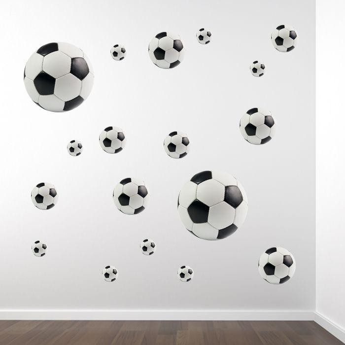 Muurstickerset voetballen