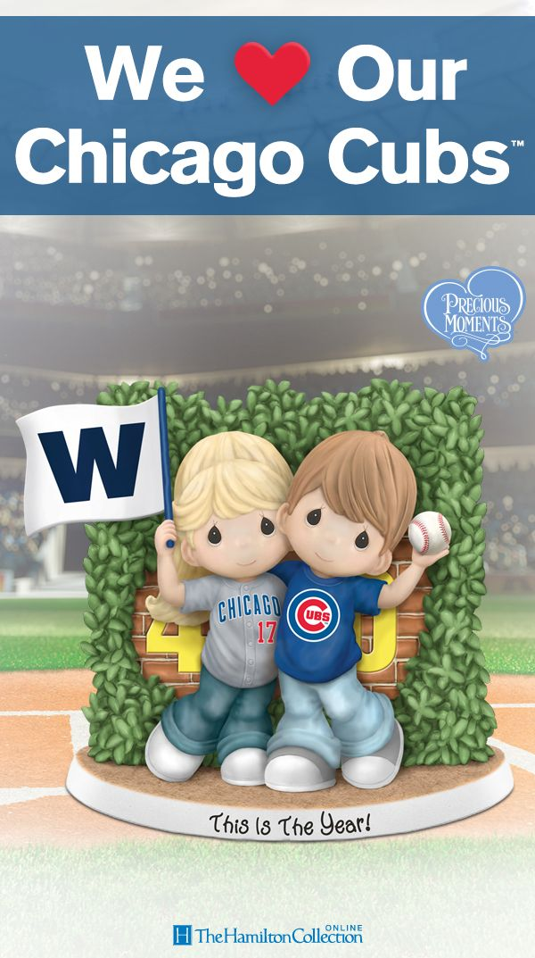 In Chicago, there is only one type of Cubs fan - a diehard fan! Now, celebrate your team spirit with this limited-edition Precious Moments figurine featuring the most adorable fans showing off their Cubs pride!