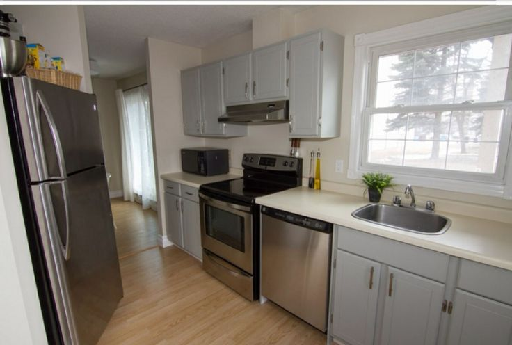 Fieldstone grey by Benjamin Moore on the condo cabinets The picture
