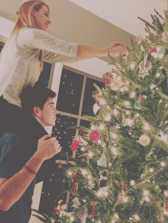 nice bonding with your partner and at the same time decorate the house for Christmas. :)