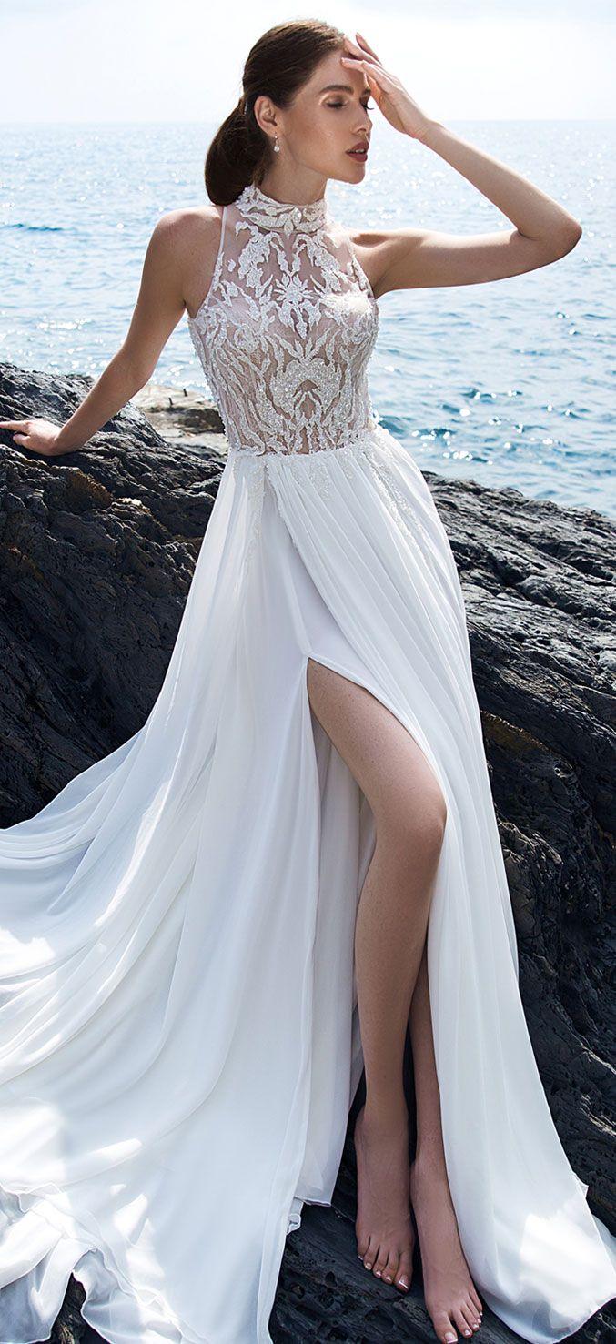 18 Beach Wedding Dresses Perfect For A Destination Wedding, halter ...