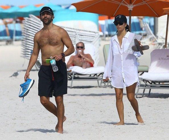 Eva Longoria Photos: Eva Longoria & Jose Antonio Baston Hit The Beach In Miami