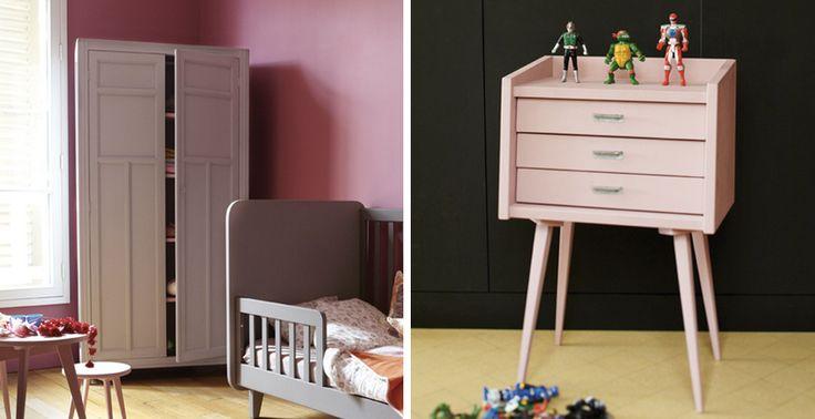 Retro meubels voor een moderne kinderkamer     roomed.nl