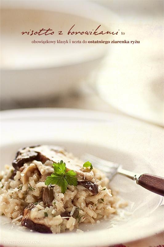 Ризотто с белыми грибами Ингредиенты 3 - 4 порции: Ризотто с белыми грибами• 10 ломтиков сушеных белых грибов * • 1 литр бульона ** • 1/2 лука • 1 зубчик чеснока • 5 столовые ложки слив...