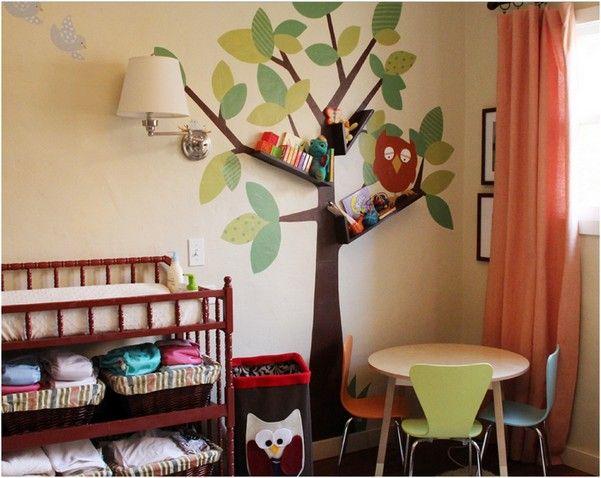 Игривая Книжная полка в виде дерева в детской