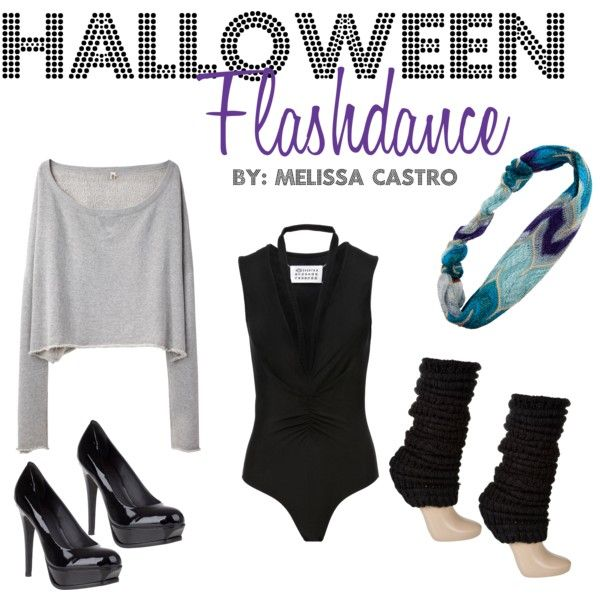 HALLOWEEN-Flashdance by mcast186 on Polyvore featuring R13, Maison Margiela, Red Herring, Pour La Victoire and Missoni