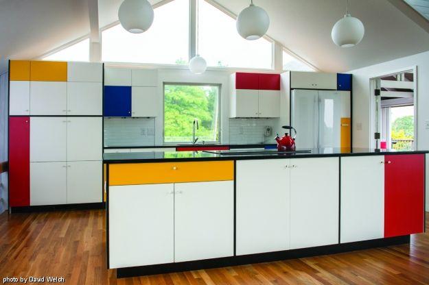 Mondrian Inspired Kitchen Mondrian Madness Pinterest